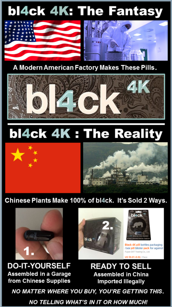 bl4ck 4k pill reviews graphic shows china sells homemade and ready to sell versions