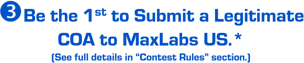 banner states to send the rhino pill certificate of analysis to maxlabs us