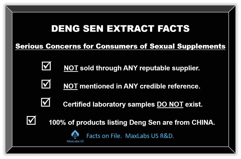 Facts about Rhino pill ingredients Deng Sen Extract