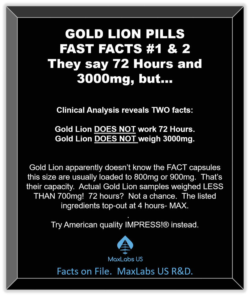 Gold lion pills review of weight and increased sex time.
