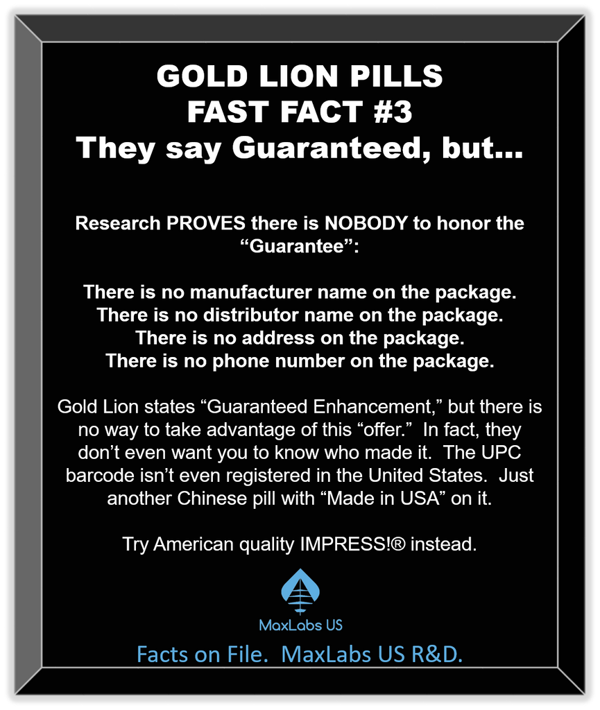 Gold Lion pill review of guaranteed male enhancement
