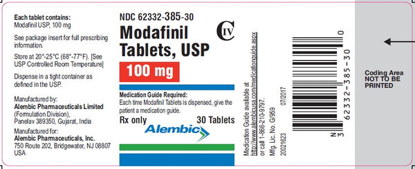 label of the nootropic drug modafanil on internet