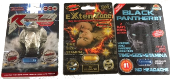 RSE7EN EXTEN ZONE and BLACK PANTHER pills