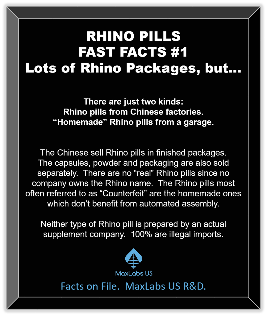 Research-backed explanation of Rhino 8 counterfeit chinese sex pills.