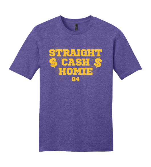 Straight Cash Homie - Purple T-Shirt Randy Moss