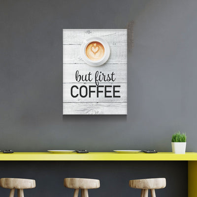But First Coffee 11 x 14 Canvas Set (Free Shipping)