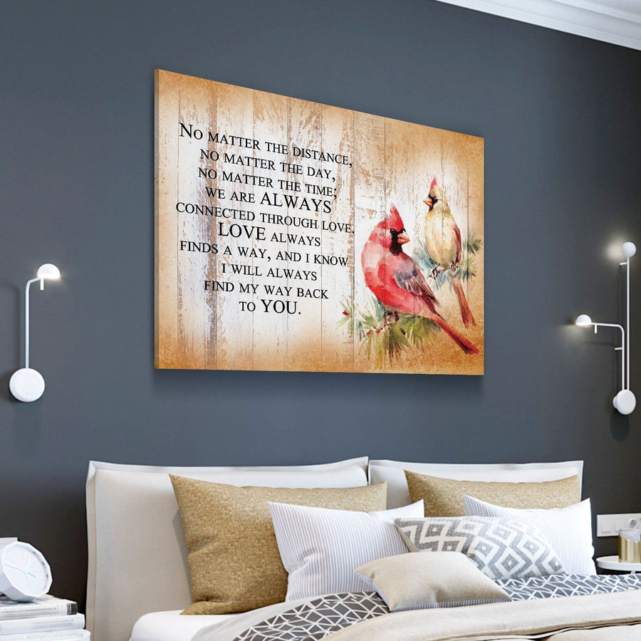 Cardinal Love Quote Canvas Set