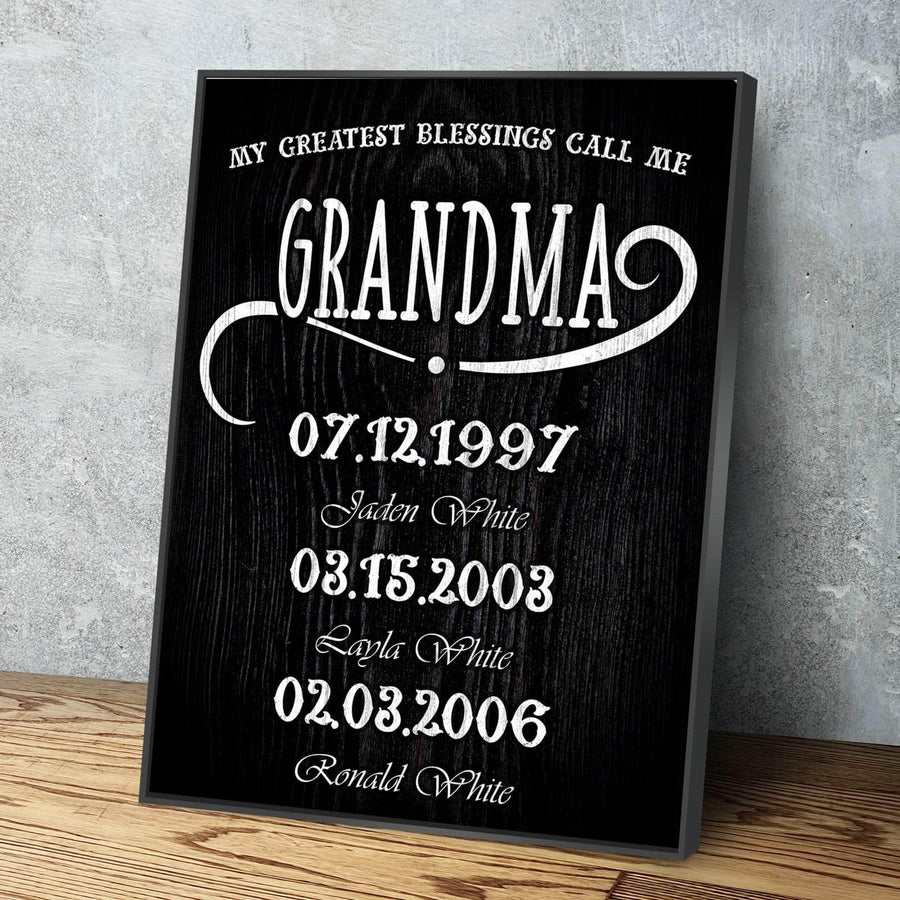 My Greatest Blessings Call Me GRANDMA Custom Canvas Set