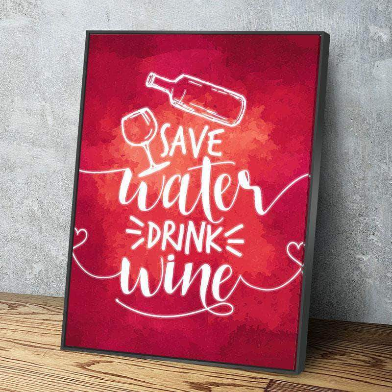 Save Water 11 x 14 Canvas Set (Free Shipping)