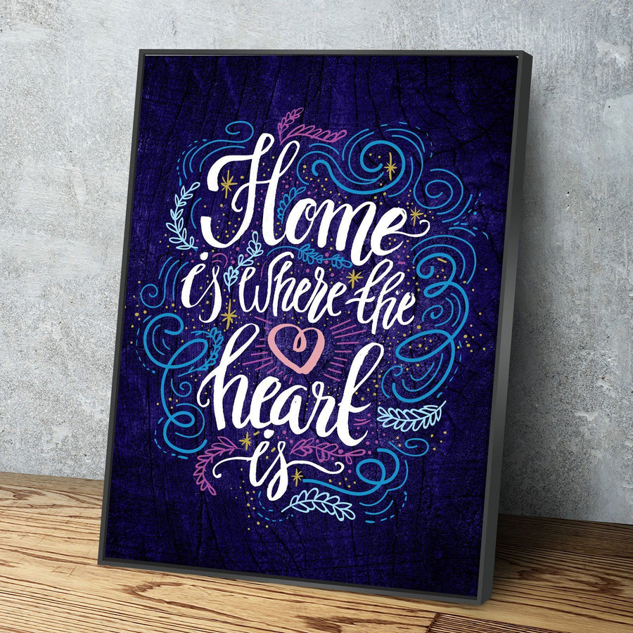 Home Is Where The Heart Is 11 x 14 Canvas Set