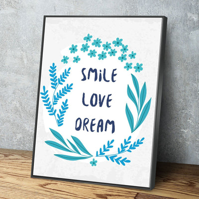 Smile Love Dream 11 x 14 Canvas Set (Free Shipping)
