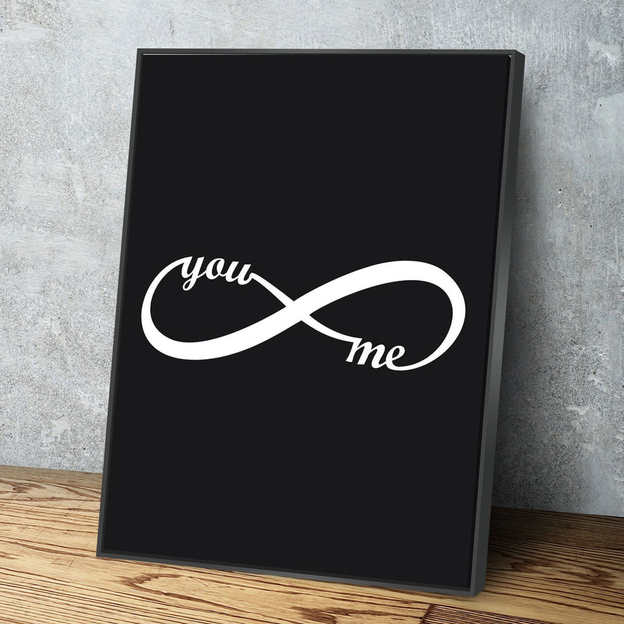 Vertical You & Me Infinity 11 x 14 Canvas Set