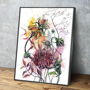 Paintbrush Blossom Canvas Set