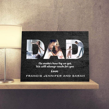 Love for DAD Custom Canvas Set
