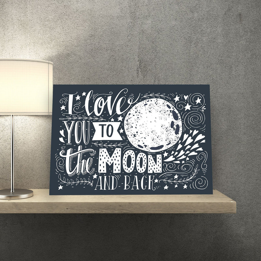 I Love You to the Moon and Back 11 x 14 Canvas Set (Free Shipping)