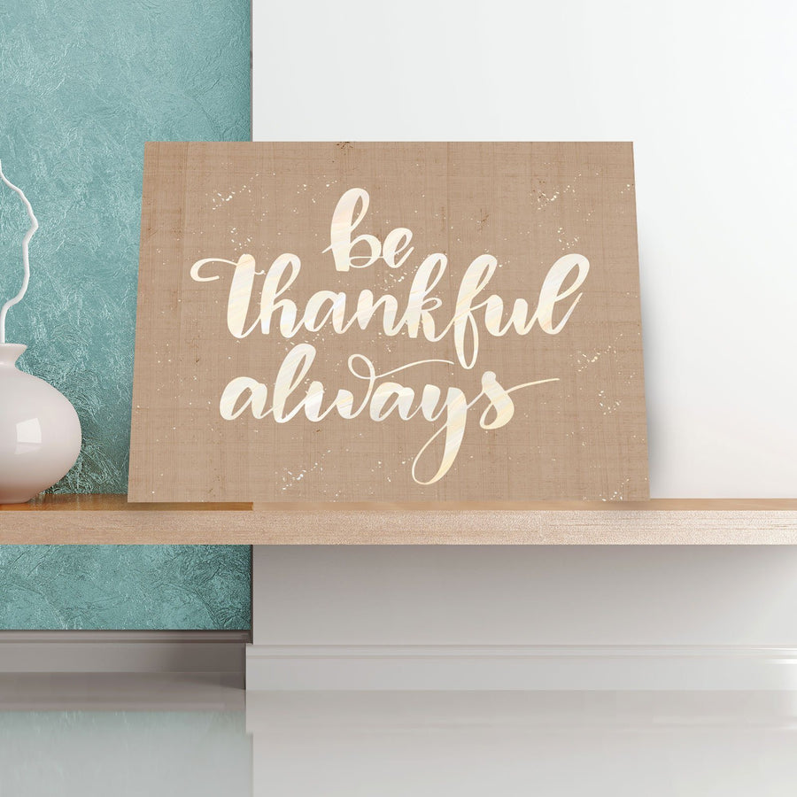 Be Thankful 11 x 14 Canvas Set