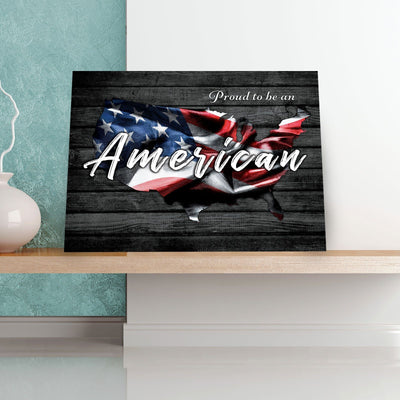 Proud To Be An American 11 x 14 Canvas Set (Free Shipping)