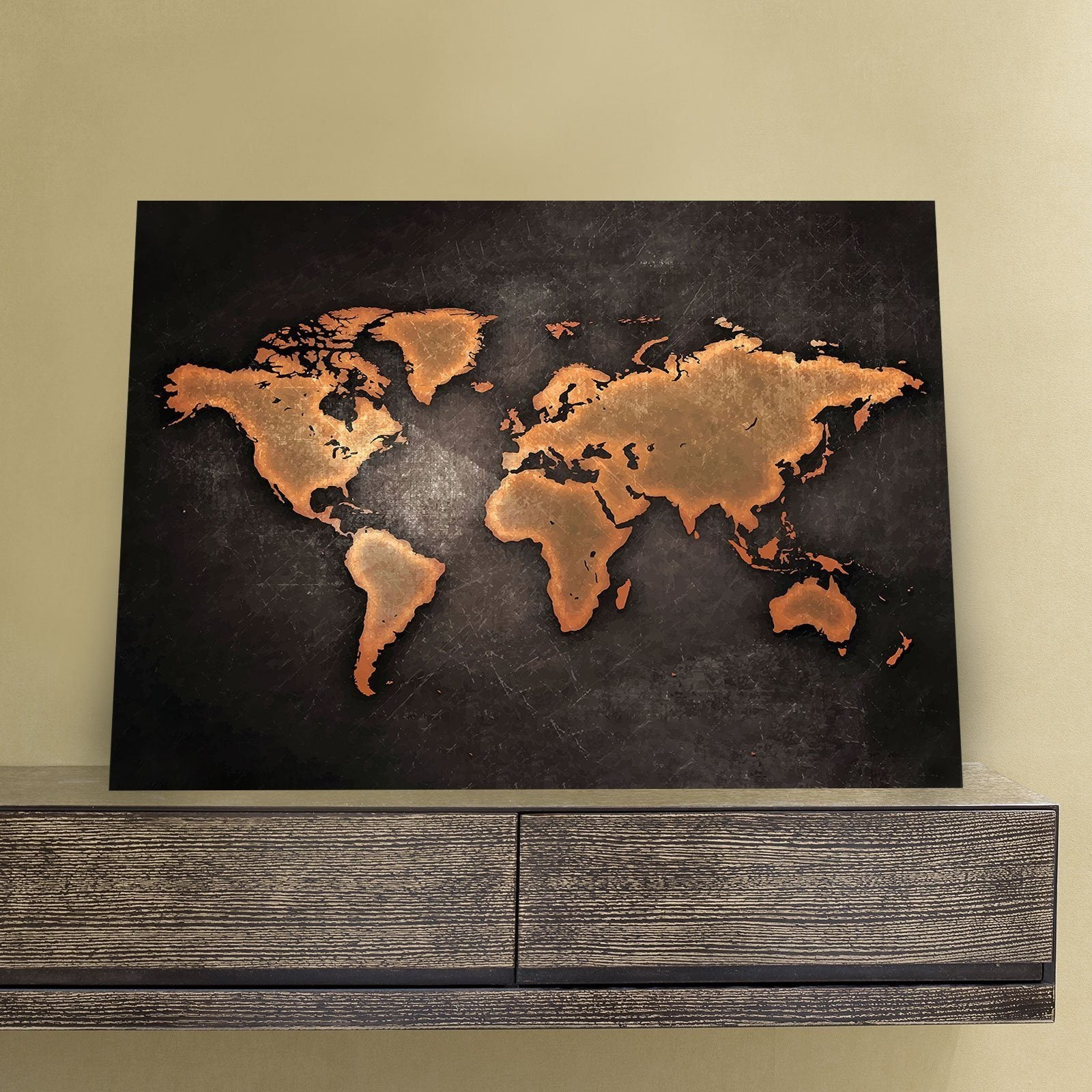 c21ce6a7ff62 Rustic World Map 11 x 14 Canvas Set (Free Shipping) - Canvas Freaks