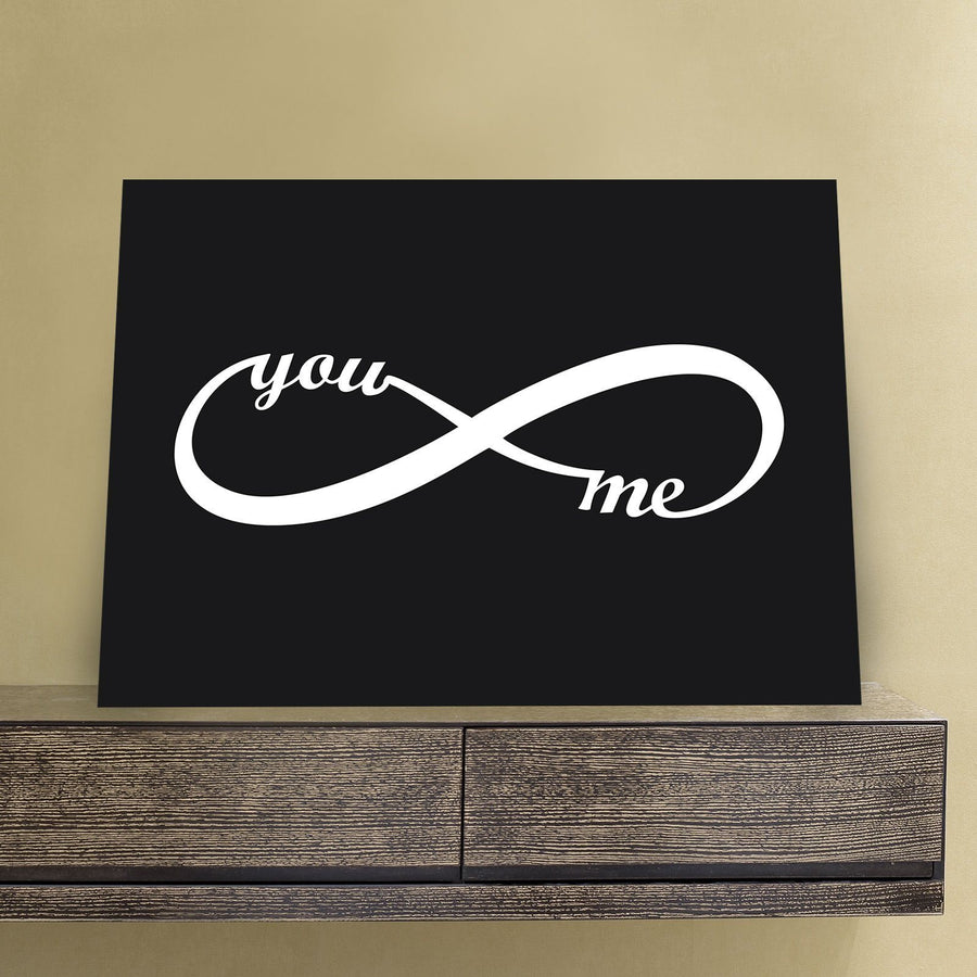 Horizontal You & Me Infinity 11 x 14 Canvas Set