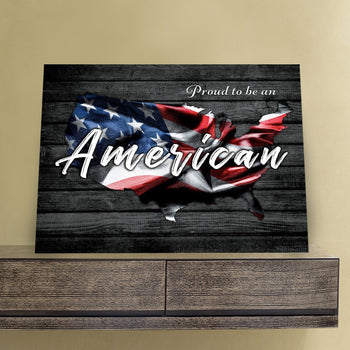 Proud To Be An American 11 x 14 Canvas Set
