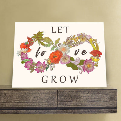 Let Love Grow 11 x 14 Canvas Set (Free Shipping)