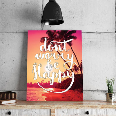 Don't Worry Be Happy 11 x 14 Canvas Set (Free Shipping)