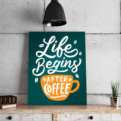 Life Begins After Coffee 11 x 14 Canvas Set (Free Shipping)
