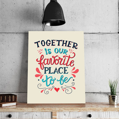 Together is Our Favorite Place to Be 11 x 14 Canvas Set (Free Shipping)