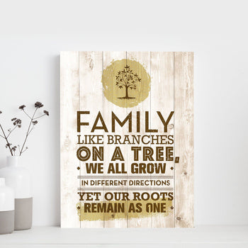Family Branches 11 x 14 Canvas Set