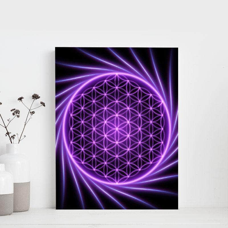 Radial Flower 11 x 14 Canvas Set
