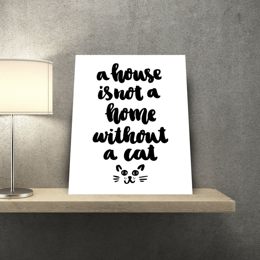 Cat Home 11 x 14 Canvas Set