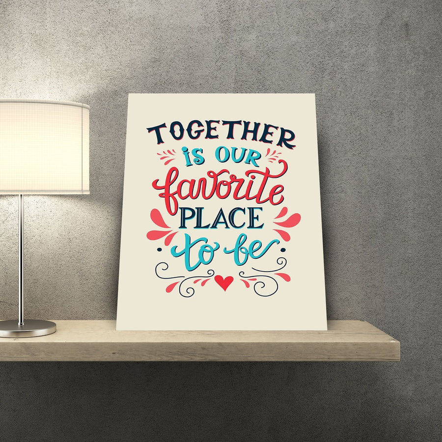 Together is Our Favorite Place to Be 11 x 14 Canvas Set