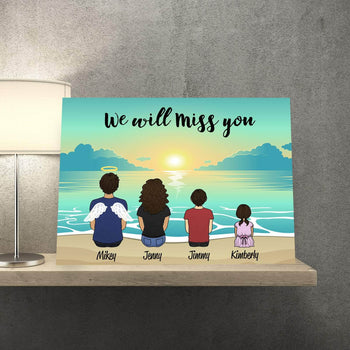 Missing you Personalized Portrait Canvas Set