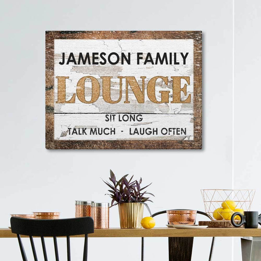 Family Lounge Custom Canvas Set