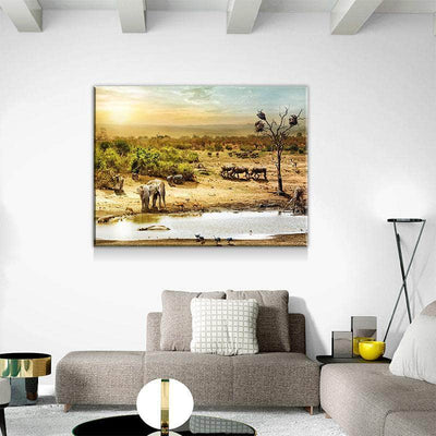 South African Wildlife Canvas Set