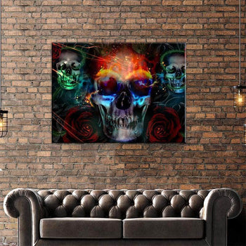 Skulls and Roses Canvas Set