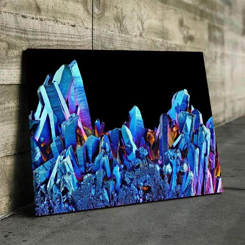 Crystal Cluster Canvas Set