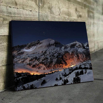 Snow Mountain Canvas Set