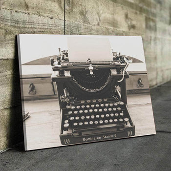 Vintage Typewriter Canvas Set