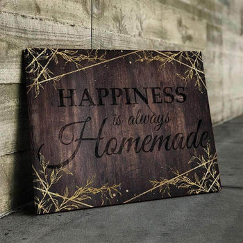 Happiness Is Always Homemade Canvas Set