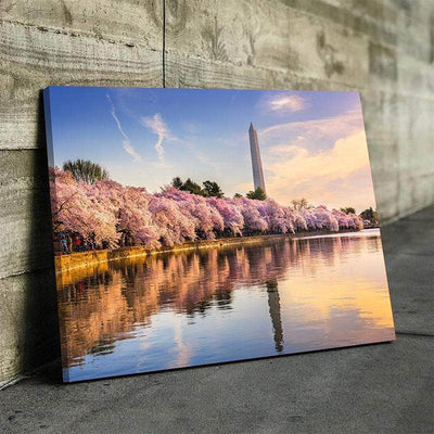 Washington Monument Cherry Blossoms Canvas Set