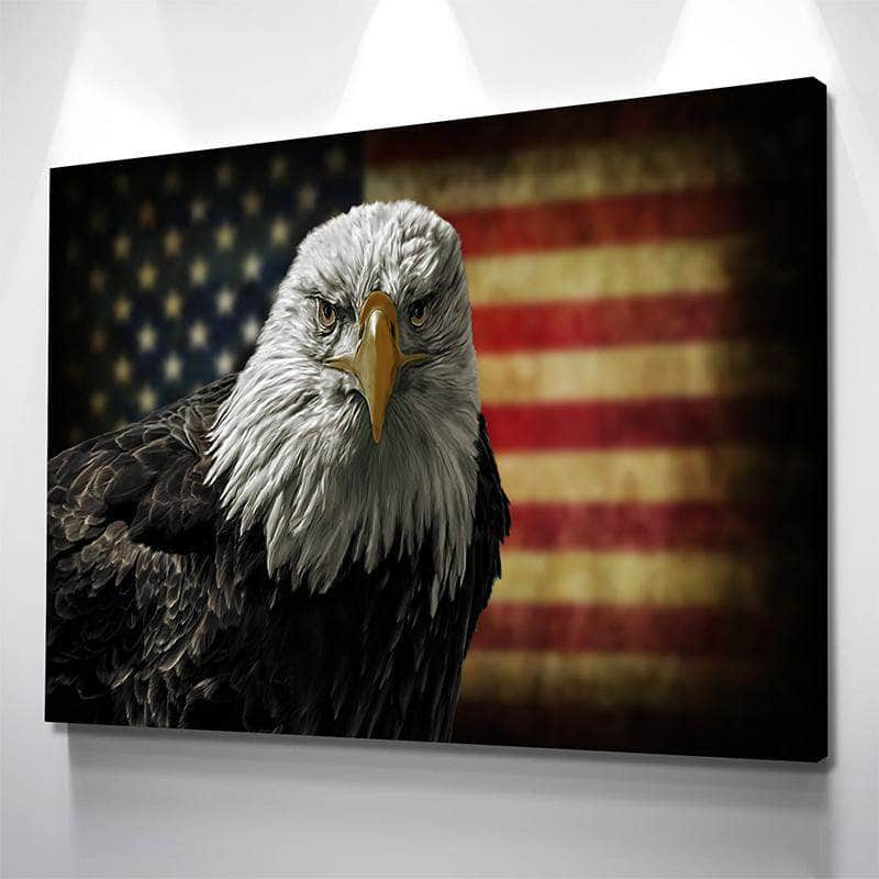 Bald Eagle Freedom Canvas Set