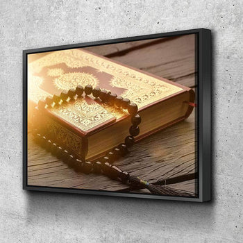The Quran and Tasbeeh Canvas Set