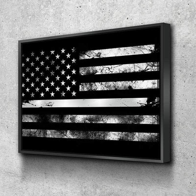 Thin Silver Line Canvas Set