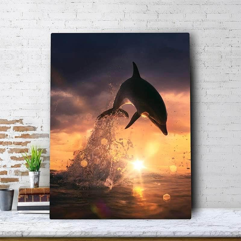 Dolphin Dive Canvas Set