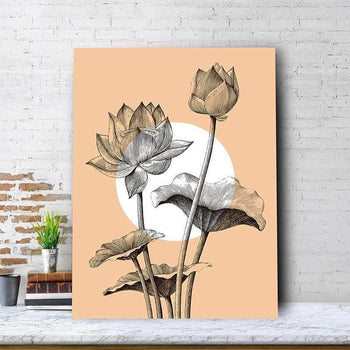 Simple Lotus Canvas Set