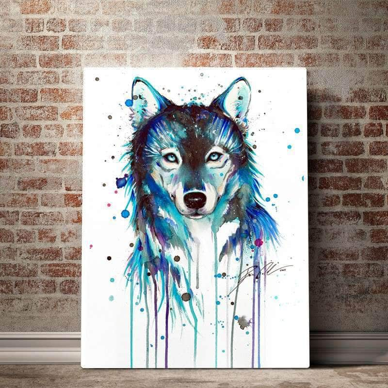 Blue Wolf Canvas Set