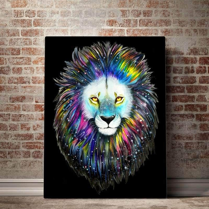 Galaxy Lion Canvas Set