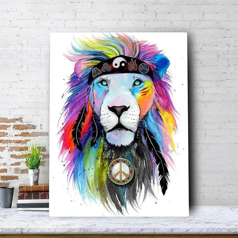 Hippy Lion Canvas Set