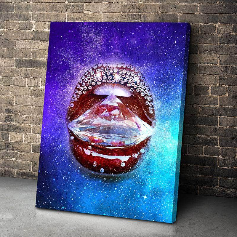 Diamond Lips Canvas Set
